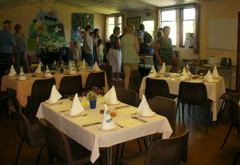 Ladies' Breakfast - The tables are laid