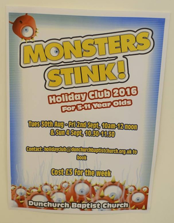 Holiday Club 2016 - An invitation to Monsters Stink!